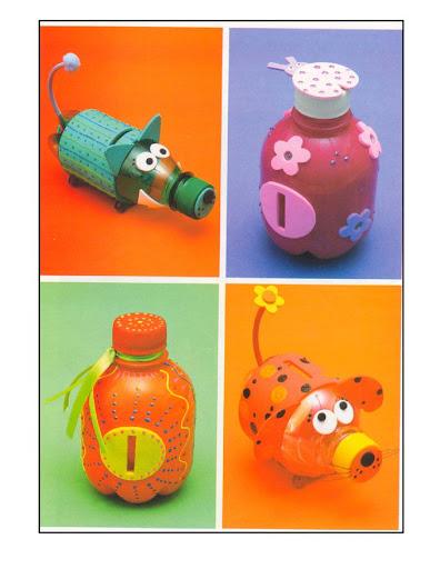 Resultado de imagem para garrafa pet é fazer um cofre para moedas
