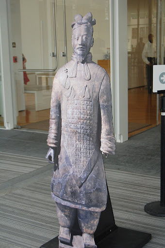The terracotta warriors of China were on display inside the museu,, but photography was not allowed.