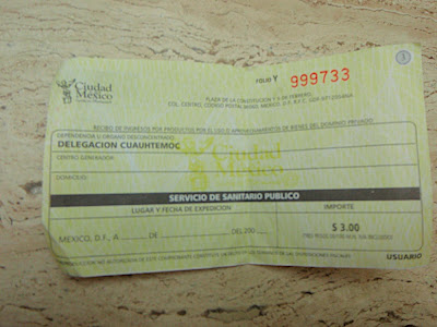 oh and i got a receipt for the 3 pesos i spent to use the bathroom at one of the parks...really?