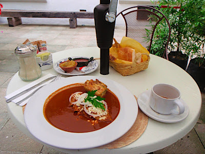picture of my wonderful breakfast...enchiladas with chicken and red mole. mole is a type of sauce native to Oaxaca, and moles are delicious...one thing about Mexico is I cant tell the difference between breakfast, lunch, and dinner--regardless it was serious fuel for my bike trip