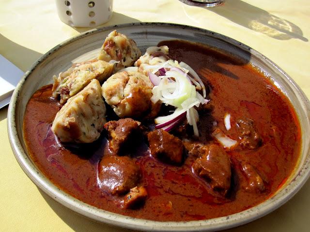 Czech goulash and dumplings