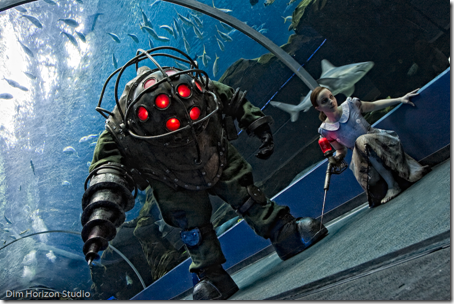 bioshock cosplay - big daddy and little sister by volpin props