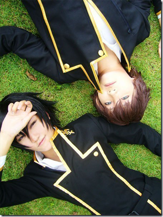 code geass: lelouch of the rebellion cosplay - lelouch lamperouge and kururugi suzaku