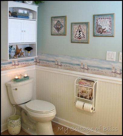 Bathrooms with beadboard wallpaper. tags bathroom wall art and ...