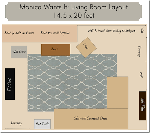 Rug Sizes Living Room Monica Wants It : sectional sizes - Sectionals, Sofas & Couches