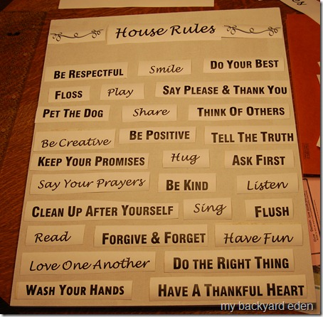 family rules art