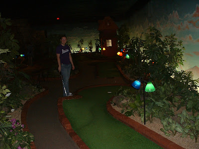 Indoor mini-golf.  Fun, but I recommend one of the 17 outdoor mini golf courses (unless its snowing).