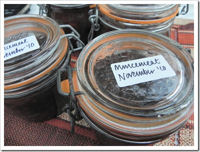 Jars of Mincemeat