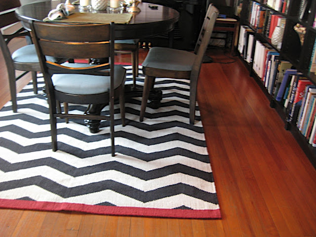 rug and chairs