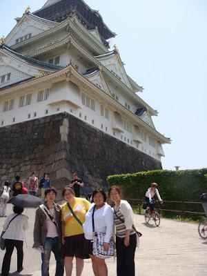 Minoru, Kelsie, Me, & Rika @ Osaka Castle