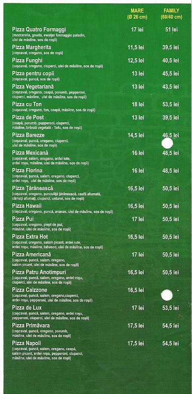 Pizzeria Florina Bucuresti