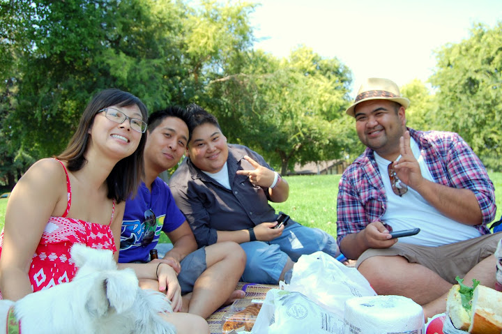 Having a picnic in the park was definitely a great way to end the weekend.