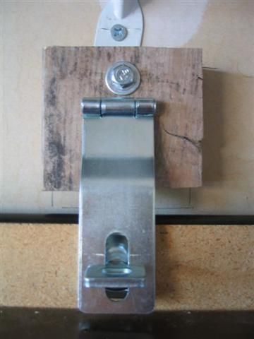 Folding Workbench - Completed Hasp Installation