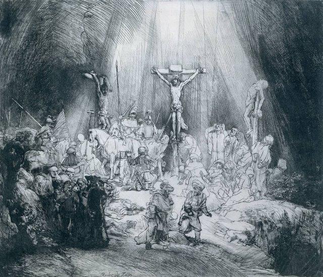 Rembrandt - Le tre Croci -Acquaforte 1653