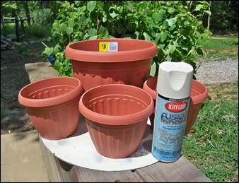 Not The Paint Lol Just Planters My Mil Is More Of White Stone Kind Gardener So I Thought Would Try Out Krylon S Fusion For Plastic In