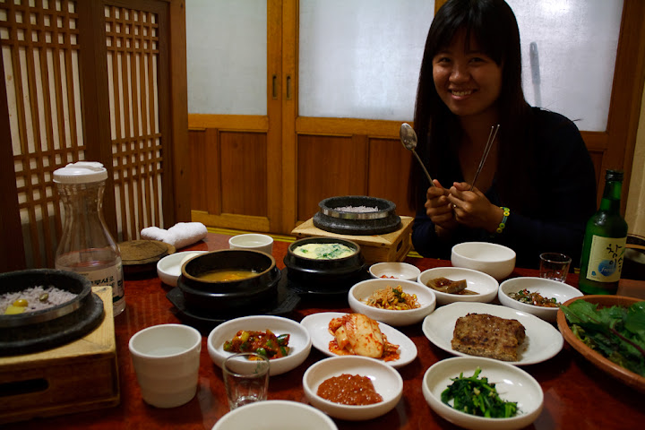 Ha Young and some food