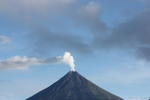 Mayon Volcano viewed from airport grounds