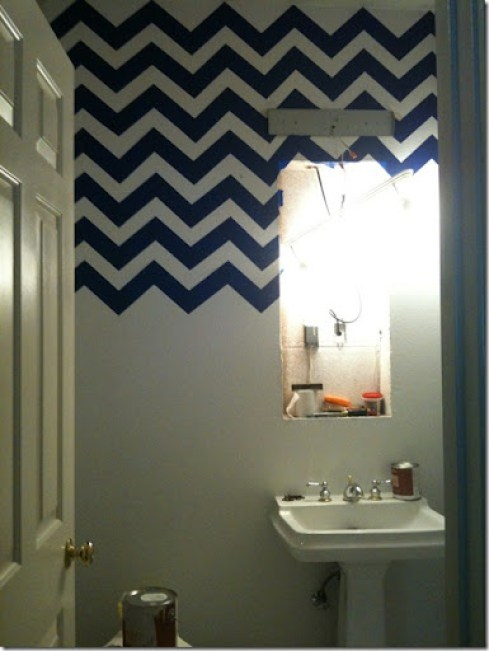 ashley's chevron bathroom