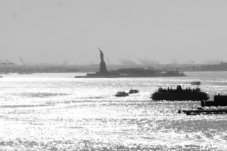 Statue of Liberty in a distance