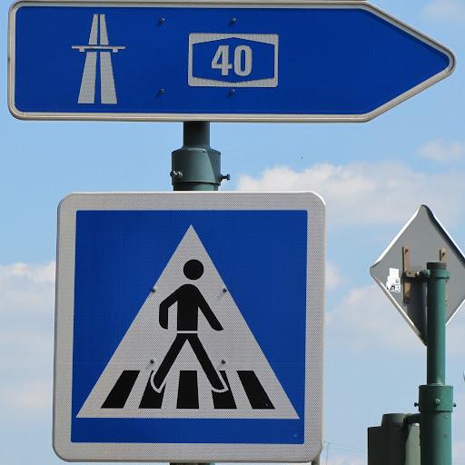 A40 wird Fußweg