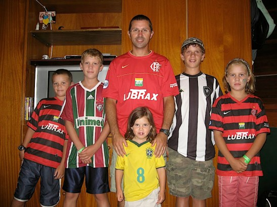 Rich & the kids in Rio de Janeiro in 2009