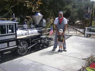 Jeremy loved the train so much we had to go thank the conductor.
