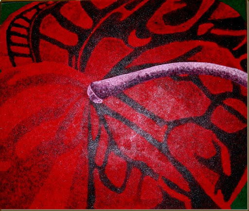 anthurium painting one