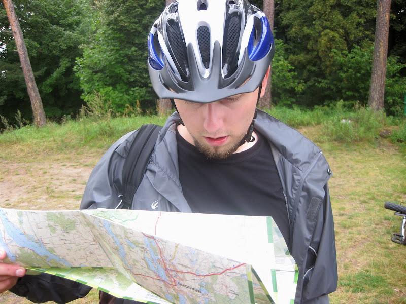 Ja czytający mapę