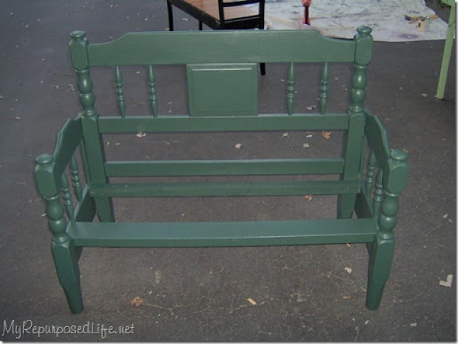 twin bed headboard bench
