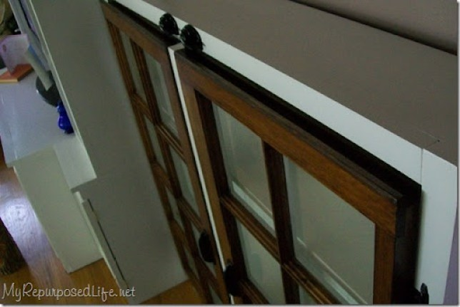 windows as door for cabinet