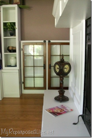 cabinet using windows for doors
