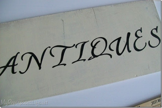easy diy antiques sign