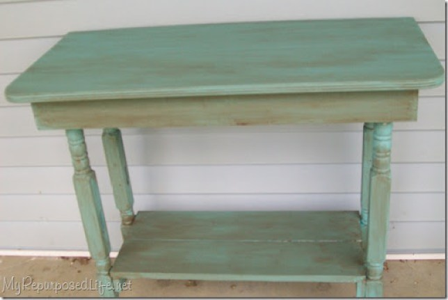 make a table out of crib parts