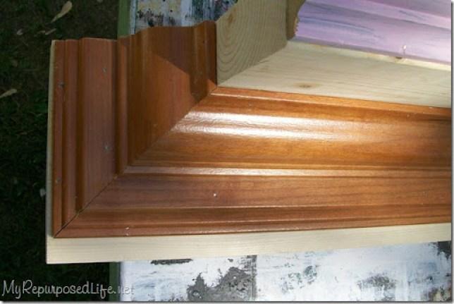 crown molding coat rack wall shelf