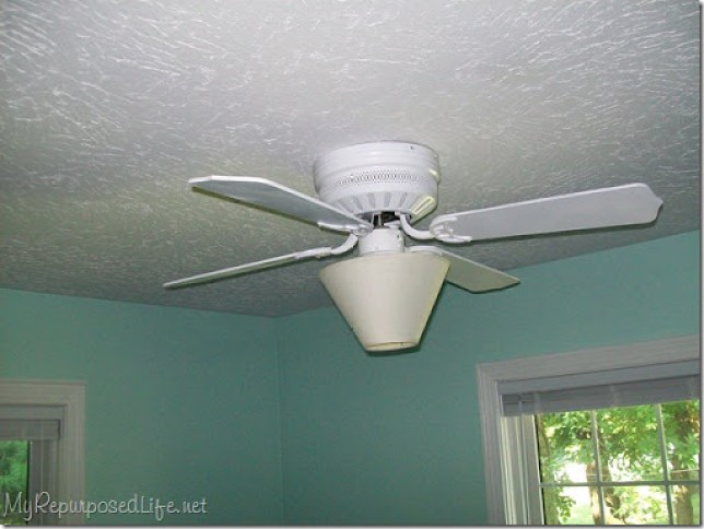 use a lampshade instead of globes on ceiling fans