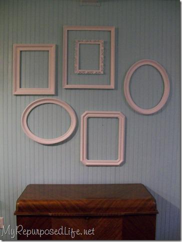 vintage frames wall