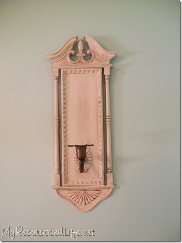 plastic sconces painted and glazed