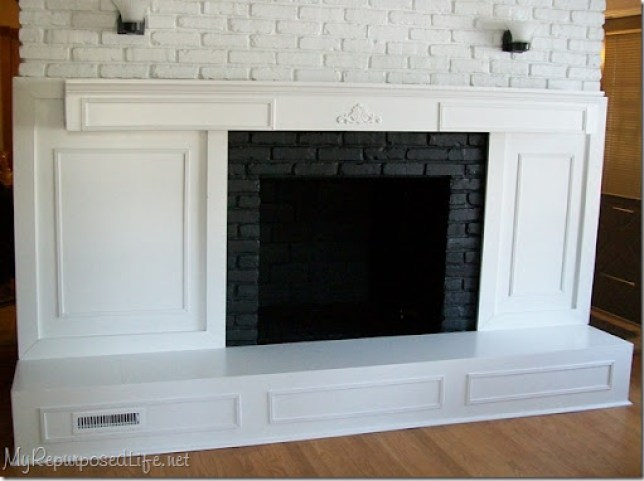 pretty white fireplace