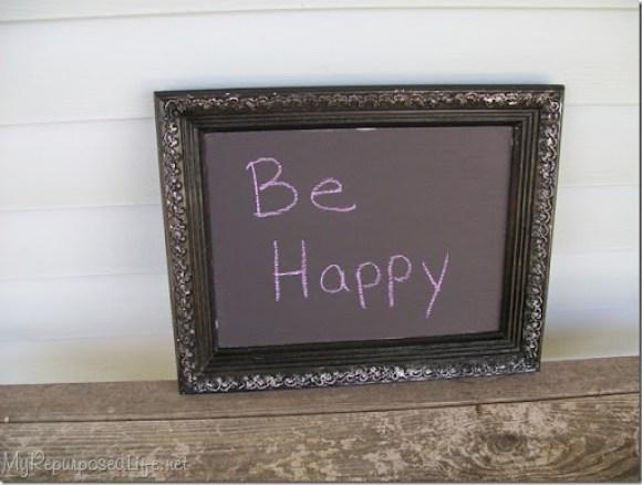 thrifted frame-chalkboard