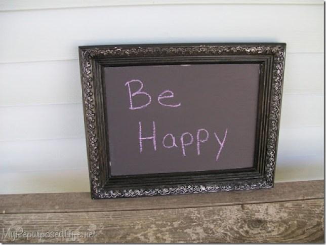 be happy diy chalkboard