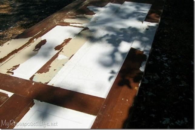 stripping paint off old door