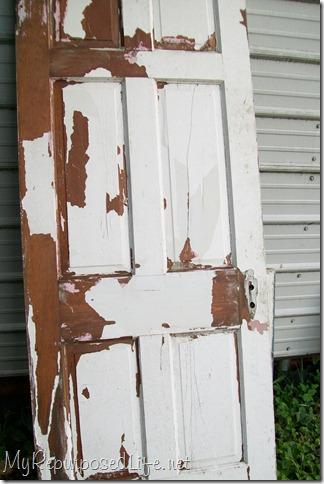 weathered chippy door
