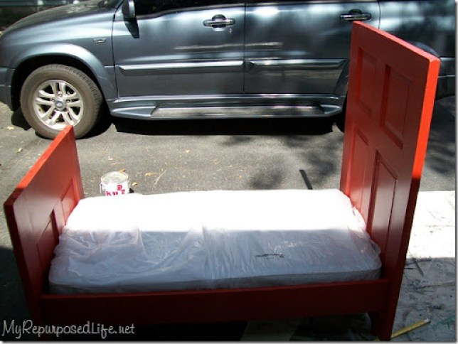 toddler bed from a door