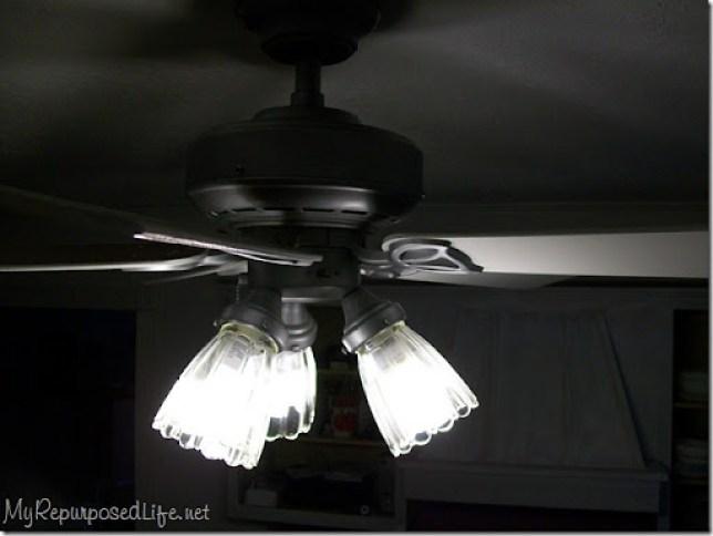 metallic spray paint update ceiling fan