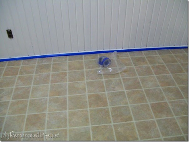 how to paint vinyl flooring