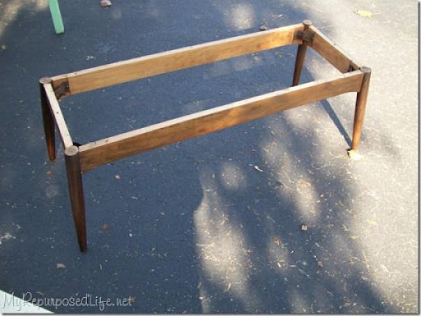 vintage mcm coffee table base