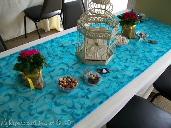 spring bridal shower decor