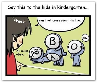 In kindergarten