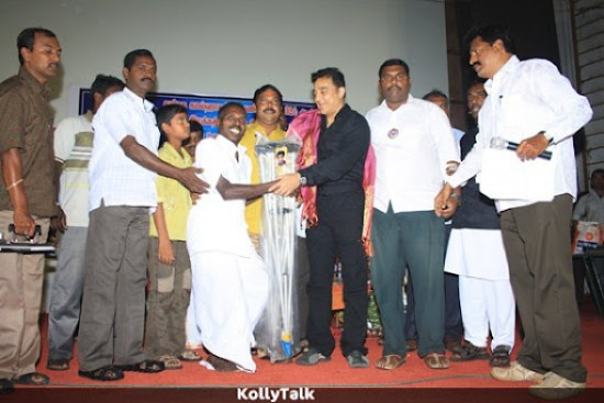 Kamal helps for a differently abled person