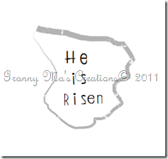 He Is Risen tombstone